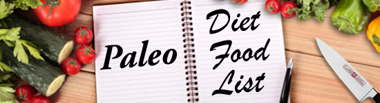 paleo diet food list banner