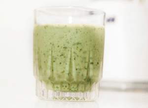 Avocado, Kale, Peach Smoothie