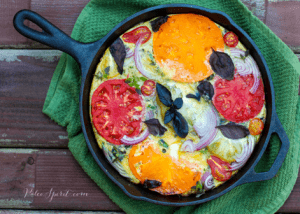 Bacon and Heirloom Tomato Frittata with Basil