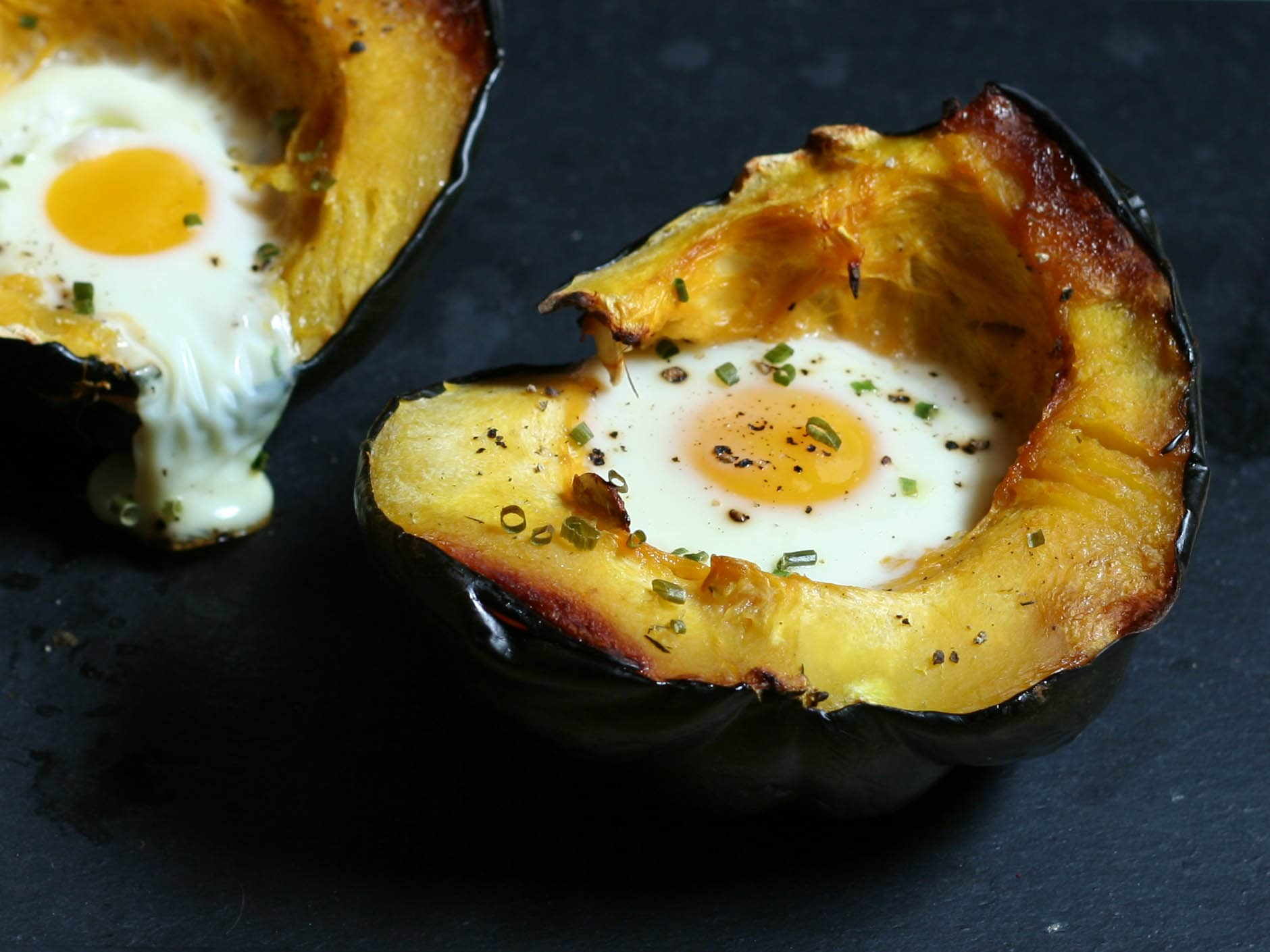 Egg Baked in Acorn Squash | Ultimate Paleo Guide