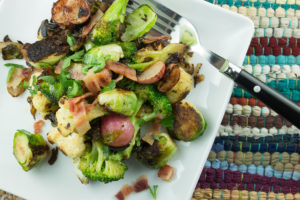 Charred Vegetables with Bacon