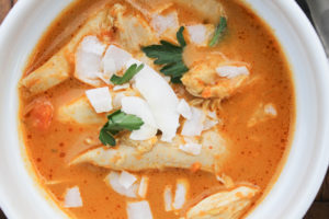 Curried Coconut Chicken Soup